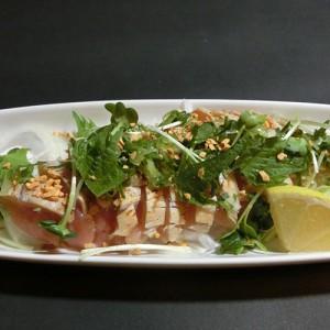 淡海地鶏のたたきポン酢714円