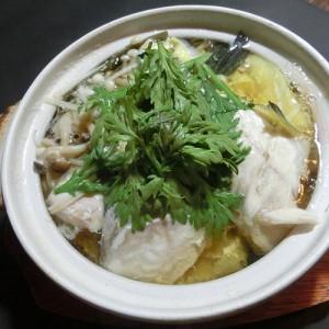 カワハギ鍋1050円