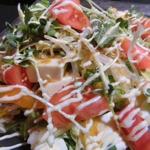 豆腐とトマトのジャコチップサラダ714円